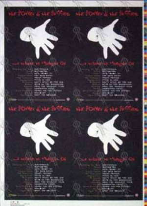 MIDNIGHT OIL - 'The Power & The Passion' Tribute Album Promo Flyer Artist Proof - 1