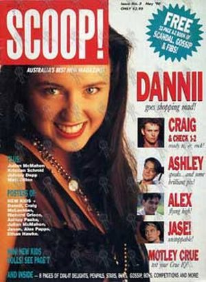 MINOGUE-- DANNII - 'Scoop' - May 1990 - Dannii On The Cover - 1