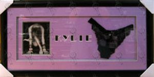 MINOGUE-- KYLIE - Custom-Framed Autographed Photo With 'Love Kylie' Black Lingerie - 1