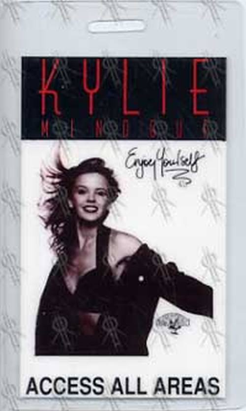 MINOGUE-- KYLIE - 'Enjoy Yourself' Access All Areas Laminate - 1