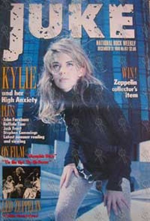 MINOGUE-- KYLIE - 'Juke' - No.817 22 December 1990 - Kylie Minogue On The Cover - 1