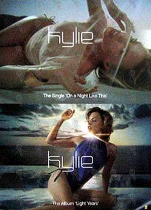 MINOGUE-- KYLIE - 'On A Night Like This' Single/'Light Years' Album Poster - 1