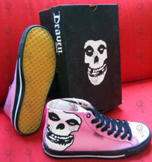 MISFITS - Pink 'Face-Off' High-Top Shoes - 1