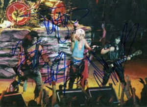 MOTLEY CRUE - Autographed Black And White 8 - 1