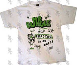 MR BUNGLE - White 'There's A Tractor In My Balls Again' T-Shirt - 1