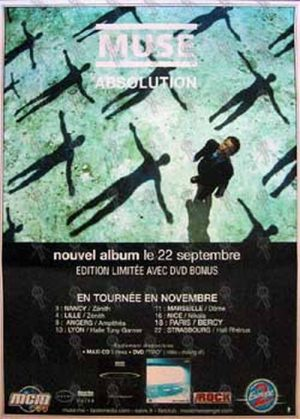 MUSE - 'Absolution'/French Tour Poster - 1