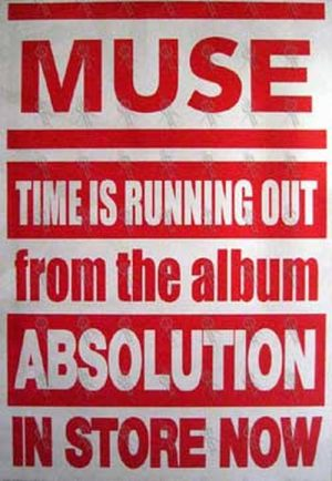 MUSE - 'Time Is Running Out' Single Poster - 1