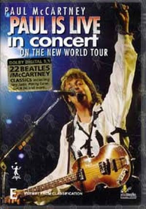 McCARTNEY-- PAUL - Paul Is Live In Concert On The New World Tour - 1