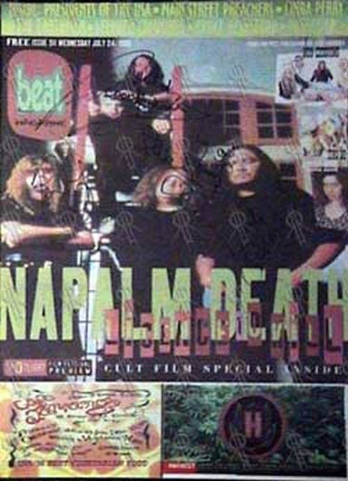 NAPALM DEATH - 'Beat' - 24th July 1996 - Napalm Death On Cover - 1