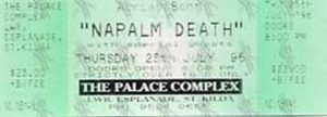 NAPALM DEATH - The Palace Complex