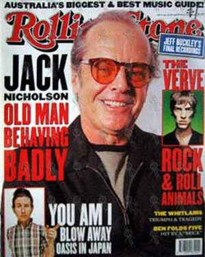 NICHOLSON-- JACK - 'Rolling Stone' - June 1998 - Jack On Cover - 1