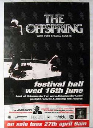 OFFSPRING-- THE - Festival Hall Melbourne - Wednesday 16th June Show Poster - 1