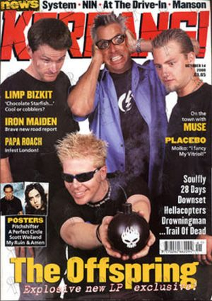OFFSPRING-- THE - 'Kerrang!' - 14th October 2000 - The Offspring On Cover - 1