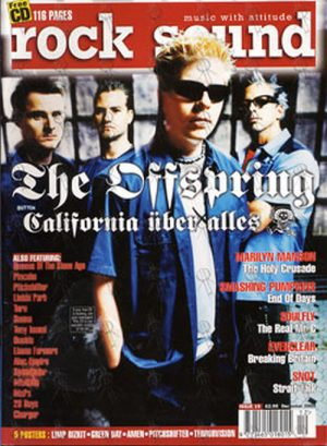 OFFSPRING-- THE - 'Rock Sound' - December 2000 - The Offspring On Cover - 1
