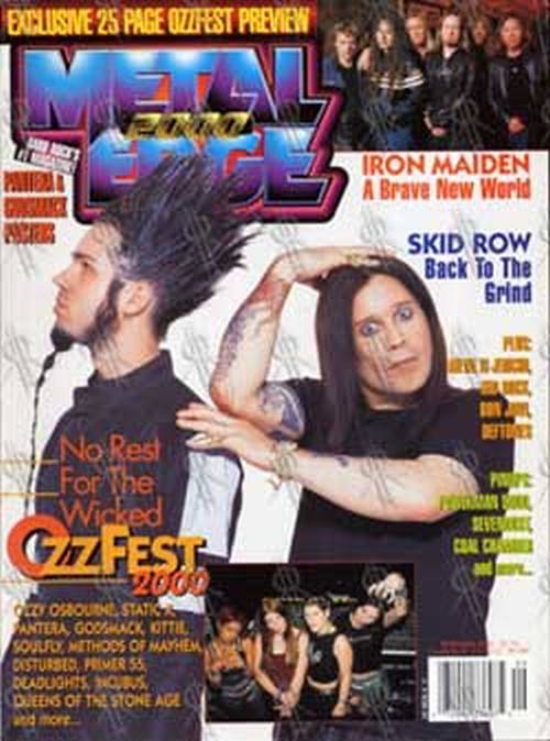 OSBOURNE-- OZZY - 'Metal Hammer' - Sept 2000 - Ozzy & Wayne From Static X On Cover - 1