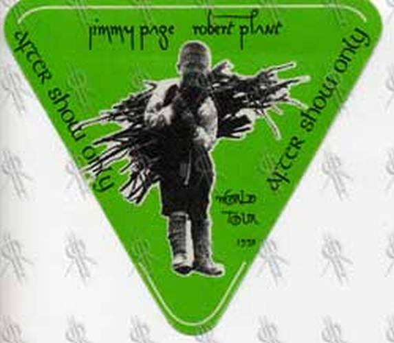 PAGE AND PLANT - 1995 World Tour After Show Pass - 1