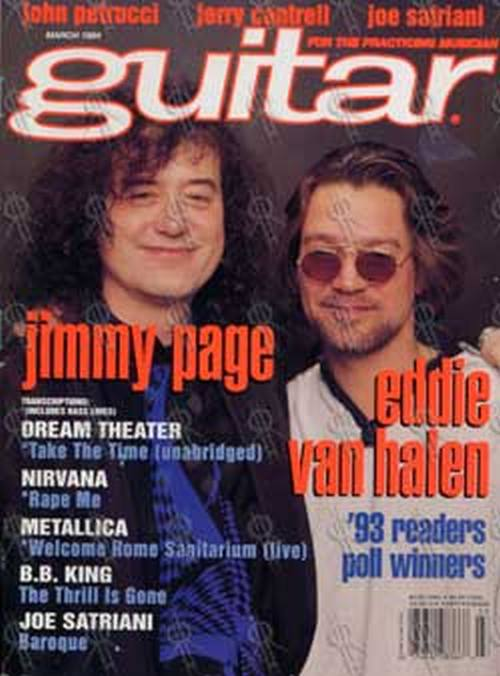 PAGE-- JIMMY - 'Guitar' - March 1994 - Jimmy Page & Eddie Van Halen On Cover - 1