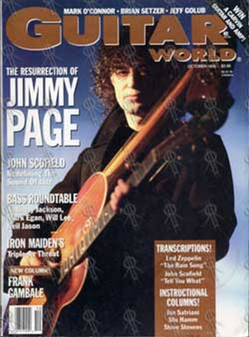 PAGE-- JIMMY - 'Guitar World' - Oct 1988 - Jimmy Page On Cover - 1