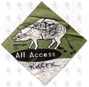 PEARL JAM - 2006 Australian Tour - Nov 16th Melbourne - Used All Access Cloth Sticker Rigger Pass - 1