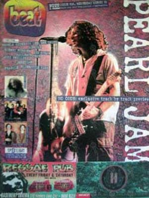 PEARL JAM - 'Beat' Magazine - Issue 515 21st August 1996 - Pearl Jam On The Cover - 1