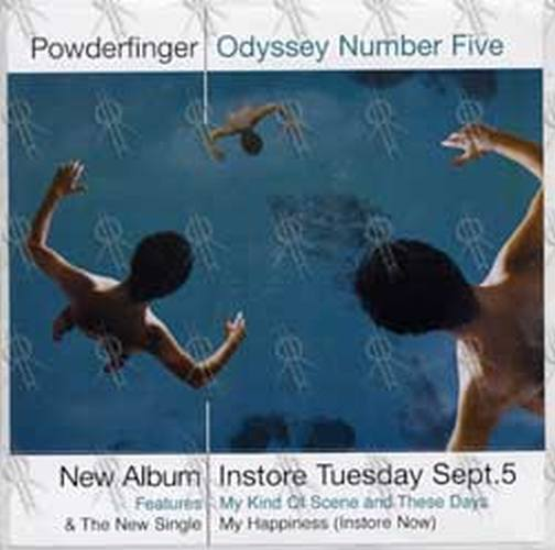 POWDERFINGER - 'Odyssey Number Five' Album Sticker - 1