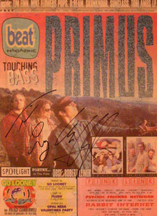 PRIMUS - Fully Signed 'Beat' - 7th Feb 1996 - Primus On Cover - 1