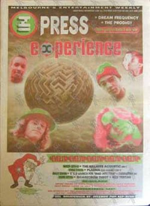 PRODIGY - 'Inpress' - 23rd December 1992 - The Prodigy On Cover - 1