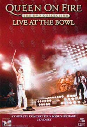 QUEEN - 'Queen On Fire - Live At The Bowl' DVD Collection Poster - 1