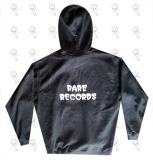 RARE RECORDS - Limited Edition Black With White Logo Hoodie - 3