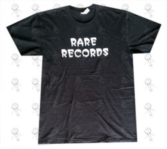 RARE RECORDS - Limited Edition Black With White Logo T-Shirt - 1