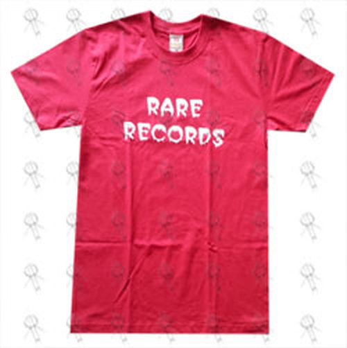 RARE RECORDS - Limited Edition Red With White Logo T-Shirt - 1