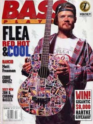 RED HOT CHILI PEPPERS - 'Bass Player' - February 1996 - Flea On The Cover - 1