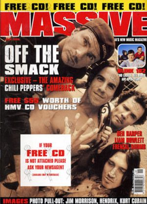 RED HOT CHILI PEPPERS - 'Massive' - June 1999 - Red Hot Chili Peppers On Cover - 1