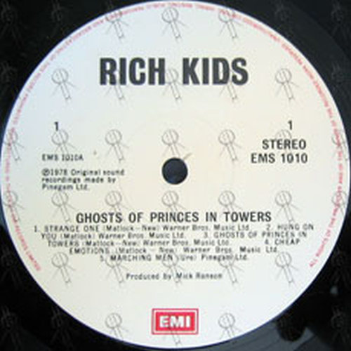 RICH KIDS - Ghosts Of Princes In Towers - 3