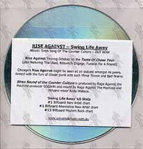 RISE AGAINST - Swing Life Away - 2