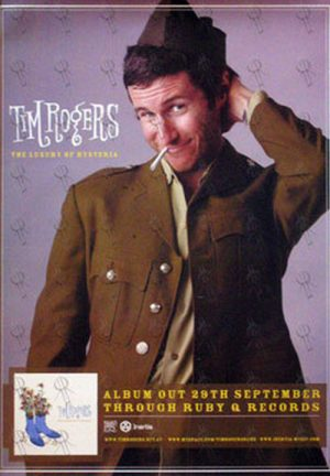 ROGERS-- TIM - 'The Luxury Of Hysteria' Small Album Promo Poster - 1