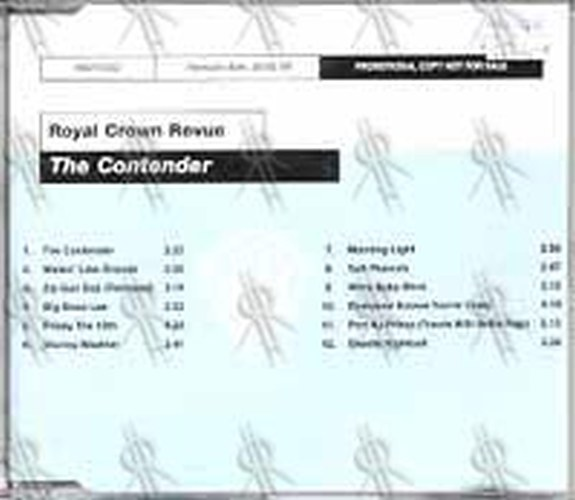 ROYAL CROWN REVUE - The Contender - 1