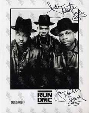 RUN DMC - 8 x 10 Record Company Photo - 1