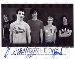 SAVES THE DAY - Fully Signed Promo Photograph - 1