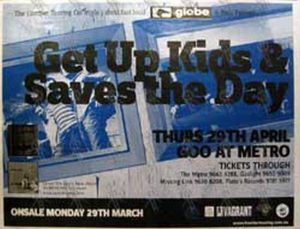 SAVES THE DAY THE GET UP KIDS - 'Goo At Metro