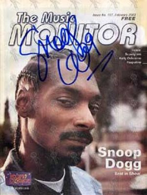 SNOOP DOGG - 'The Music Monitor' - Issue No. 157 February 2003 - Snoop On The Cover - 1