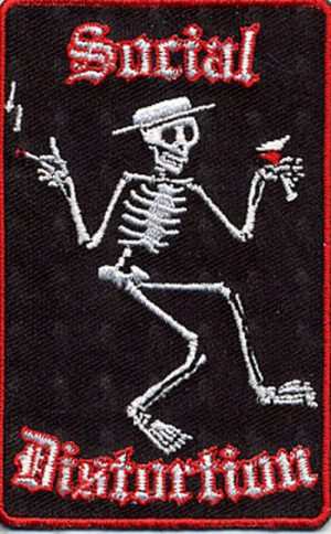 SOCIAL DISTORTION - 'Party Skeleton' Design Embroidered Patch - 1