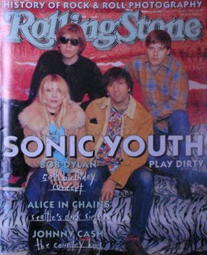 SONIC YOUTH - 'Rolling Stone' - January 1993 - Sonic Youth On Cover - 1