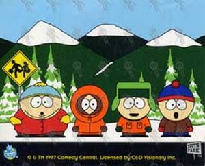 SOUTH PARK - Waiting For The School Bus Sticker - 1