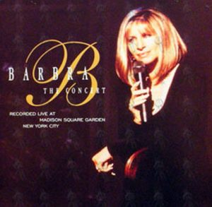 STREISAND-- BARBRA - The Concert / Six Moons Double Sided Promo Flat - 1