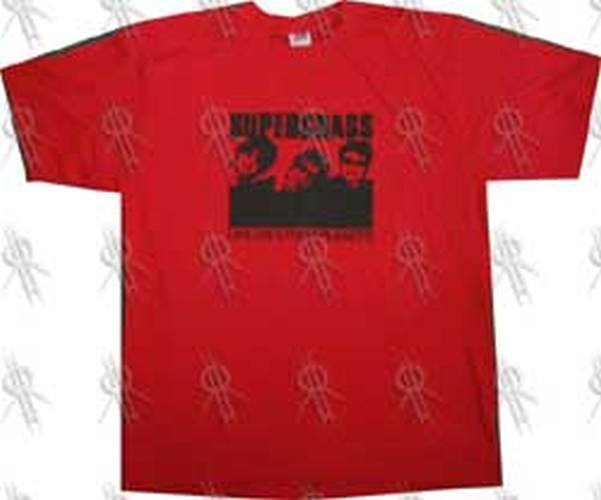 SUPERGRASS - 'Life On Other Planes' Red Promo T-Shirt - 1