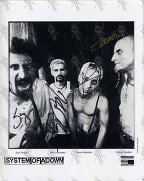 SYSTEM OF A DOWN - Black & White Promo Photo - 3