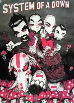 SYSTEM OF A DOWN - Illustrated Band Image Poster - 1