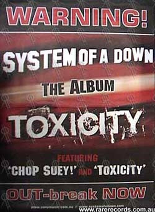 SYSTEM OF A DOWN - 'Toxicity' Album Poster - 1