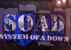 SYSTEM OF A DOWN - 'Toxicity' Era Logo Poster - 1